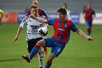 Útočník Plzně Václav Pilař v zápase proti Rosenborgu Trondheim.