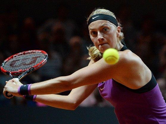 Petra Kvitová během semifinále turnaje ve Stuttgartu