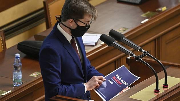 Předseda poslaneckého klubu Pirátů Jakub Michálek