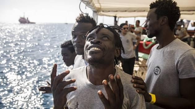 Migrace přes Středozemní moře, ilustrační foto.