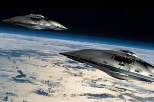 Mimozemské létající talíře - Ilustrační foto
