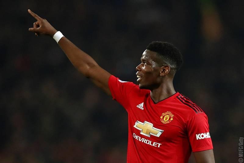 Záložník Manchesteru United Paul Pogba.