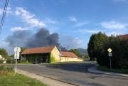 Požár v areálu firmy Čepro