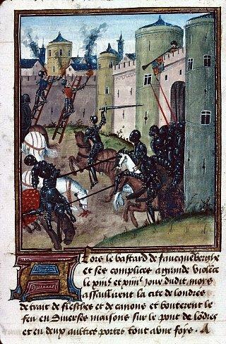 Yorkští obránci Londýna vzdorují Fauconbergovým obléhatelům