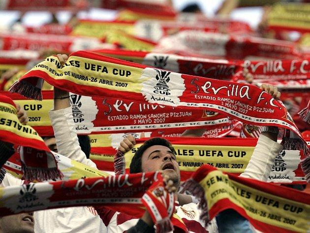 Fanoušci španělského klubu ze Sevilly.