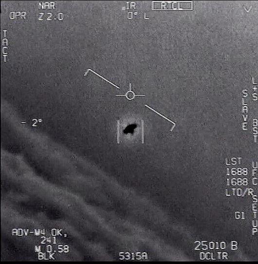 Neidentifikovaný létající objekt (UFO) na záběrech amerického letectva