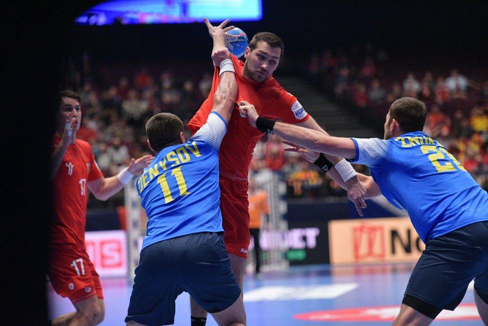 Mistrovství Evropy házenkářů ve Vídni, skupina B, utkání Ukrajina - ČR