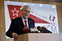 Prezident Miloš Zeman na sjezdu KSČM.