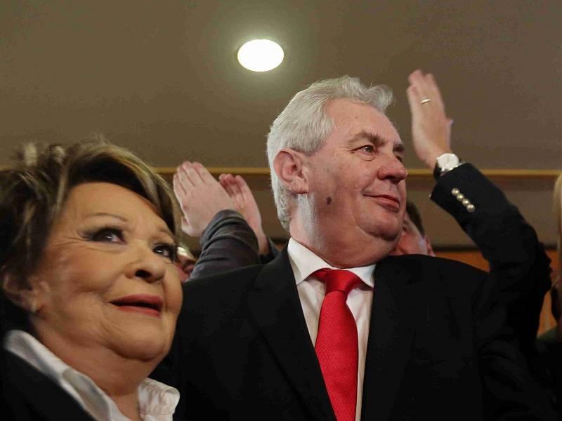 Jiřina Bohdalová a Miloš Zeman