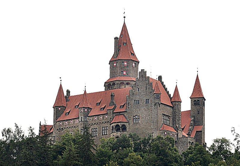 Cílem cyklovýletu je hrad Bouzov