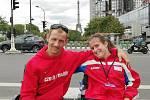 Čeští handicapovaní reprezentanti v atletice František Serbus a Anna Muziková