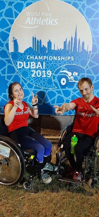 Čeští handicapovaní atleti Anna Muziková a František Serbus