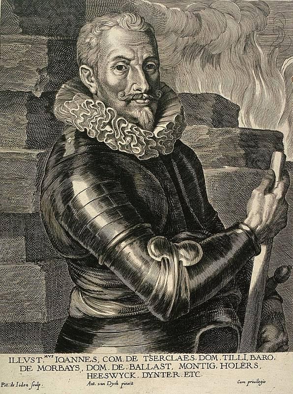 Portrét Jana Tserclaa Tillyho od van Dycka