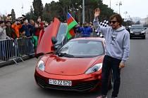 Fernando Alonso v Ázerbájdžánu