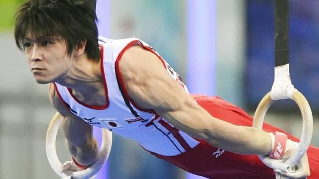 Sportovní gymnasta Kohej Učimura.