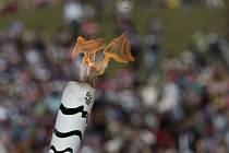 Olympijská pochodeň pro hry v Riu.