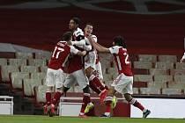 Utkání čtvrtfinále Evropské ligy mezi Arsenalem a Slavií