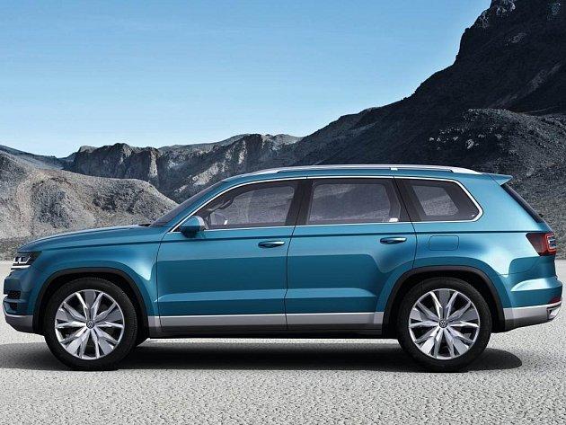 Koncept Volkswagen Crossblue má podle některých zdrojů naznačovat vzhled velké terénní škodovky.