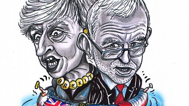 Theresa Mayová a Jeremy Corbyn.