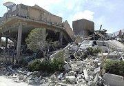 Zničené výzkumné centrum v Damašku po útoku Spojených států.