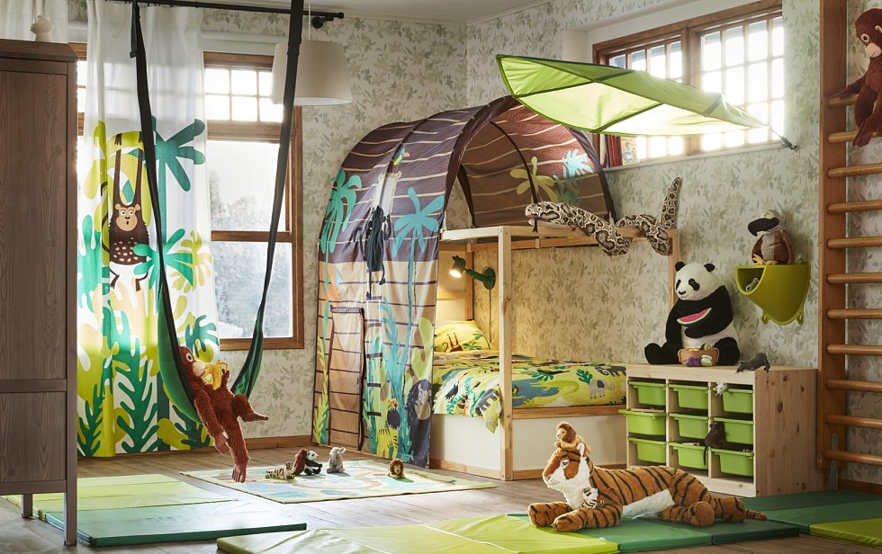 Interiér dětského pokoje.