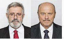 Poslanci Josef Novotný a Jaroslav Borka