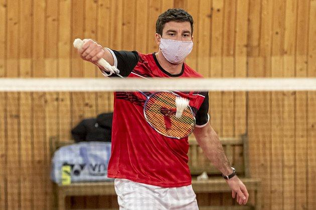 Petr Koukal při tréninku vroušce 1.prosince vPraze.