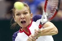 Rumunská tenistka Simona Halepová v Moskvě.