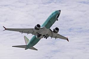 Letoun Boeing 737 MAX 8 na snímku z 8. května 2019.