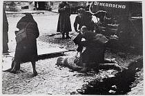 Oběť prvního ostřelování Leningradu německými vojsky, 10. září 1941