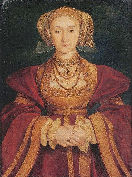 Sňatek s Annou Klévskou nechal Jindřich VIII. anulovat. Manželství údajně nebylo naplněno. Autorem malby je Hans Holbein mladší.