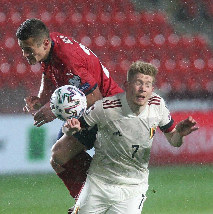 Kvalifikace  fotbalové reprezentace na MS 2022 proti Belgii 27.3.2021 v Praze Sinobo Stadium