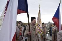 Pochod sokolů Prahou. Ilustrační snímek