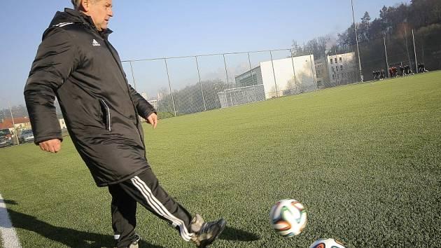 Trenér Petr Rada zahájil s fotbalisty Jihlavy zimní přípravu.