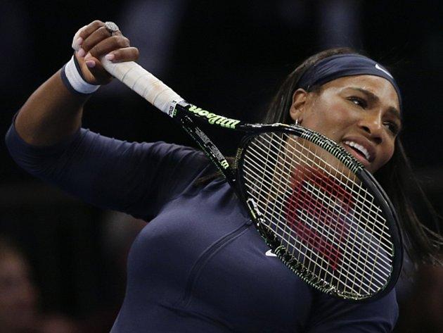 Serena Williamsová na exhibici v Madison Square Garden.