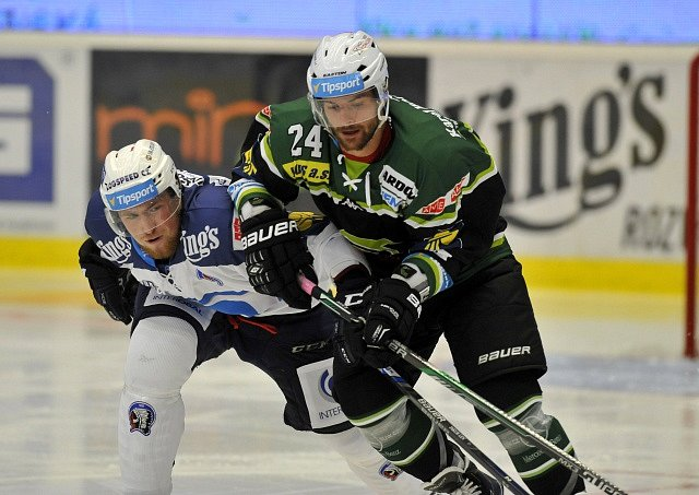 Ze zápasu HC Škoda Plzeň - HC Energie Karlovy Vary