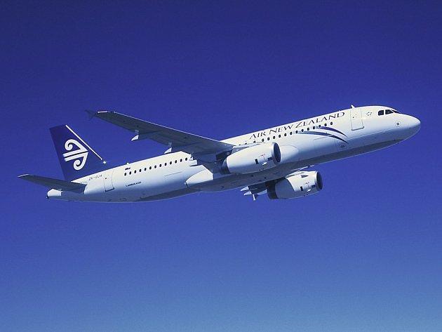 Airbus A320 novozélandských aerolinií. Ilustrační foto