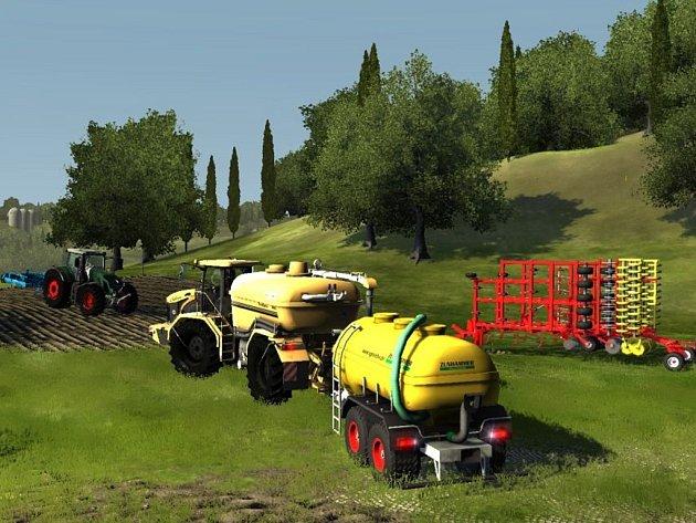 Počítačová hra Traktor Simulator 4.
