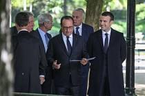 Končící francouzský prezident Francois Hollande během připomínky zrušení otroctví
