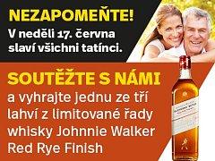 Zapojte se s námi do soutěže a vyhrajte jednu ze tří lahví z  limitované řady whisky Johnnie Walker Red Rye Finish.
