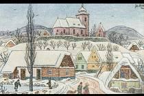 Josef Lada: Zima na vsi.