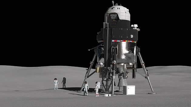 Koncept lunárního modulu Lockheed Martin.