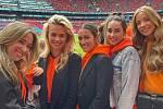 Partnerky nizozemských fotbalistů.