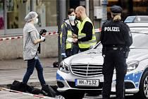 Útok nožem v hamburském supermarketu