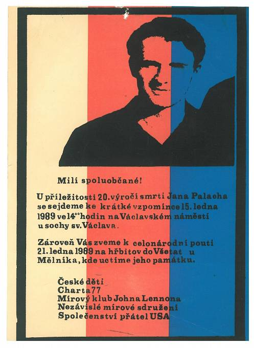 Pozvánka na připomínku Palachova výročí