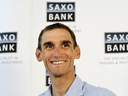 Alberto Contador a jeho radost na stupních vítězů