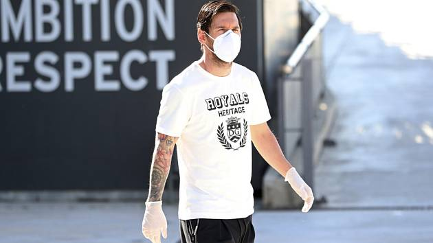Lionel Messi na tréninku Barcelony