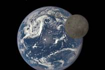 NASA ukázala unikátní záběry odvrácené strany Měsíce se Zemí.