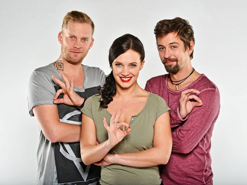 Jakub Prachař, Jan Dolanský a Kristýna Leichtová.