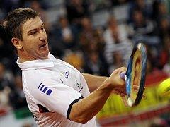 Jan Hájek si ve finále Davis Cupu záhrál proti Rafaelu Nadalovi.